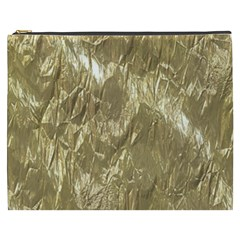 Crumpled Foil Golden Cosmetic Bag (XXXL)