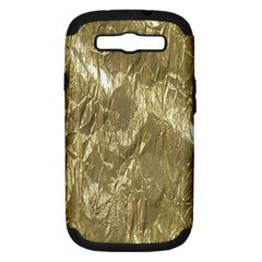 Crumpled Foil Golden Samsung Galaxy S III Hardshell Case (PC+Silicone)