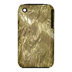 Crumpled Foil Golden Apple iPhone 3G/3GS Hardshell Case (PC+Silicone)
