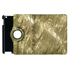 Crumpled Foil Golden Apple iPad 2 Flip 360 Case