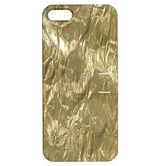 Crumpled Foil Golden Apple iPhone 5 Hardshell Case with Stand