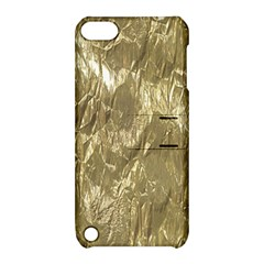 Crumpled Foil Golden Apple iPod Touch 5 Hardshell Case with Stand