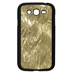 Crumpled Foil Golden Samsung Galaxy Grand DUOS I9082 Case (Black)