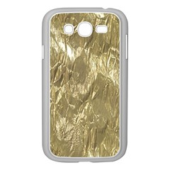 Crumpled Foil Golden Samsung Galaxy Grand DUOS I9082 Case (White)