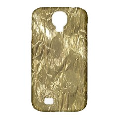 Crumpled Foil Golden Samsung Galaxy S4 Classic Hardshell Case (PC+Silicone)