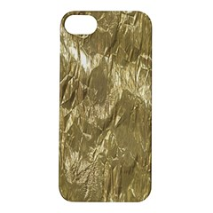 Crumpled Foil Golden Apple iPhone 5S Hardshell Case