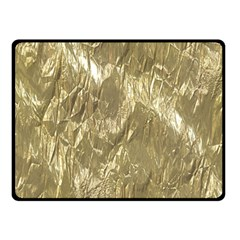Crumpled Foil Golden Double Sided Fleece Blanket (small)