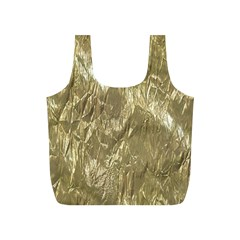 Crumpled Foil Golden Full Print Recycle Bags (S)