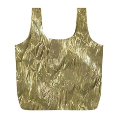 Crumpled Foil Golden Full Print Recycle Bags (L)