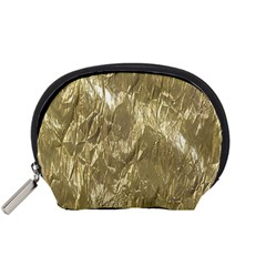 Crumpled Foil Golden Accessory Pouches (Small)