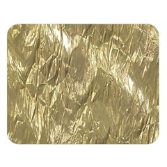 Crumpled Foil Golden Double Sided Flano Blanket (Large)