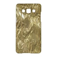 Crumpled Foil Golden Samsung Galaxy A5 Hardshell Case