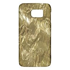 Crumpled Foil Golden Galaxy S6