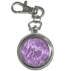 Crumpled Foil Lilac Key Chain Watches
