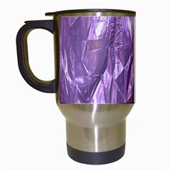 Crumpled Foil Lilac Travel Mugs (White)