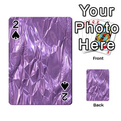 Crumpled Foil Lilac Playing Cards 54 Designs