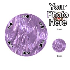 Crumpled Foil Lilac Playing Cards 54 (Round)