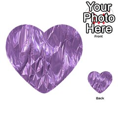 Crumpled Foil Lilac Multi-purpose Cards (Heart)
