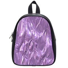 Crumpled Foil Lilac School Bags (Small)