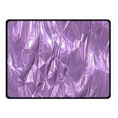 Crumpled Foil Lilac Fleece Blanket (small)