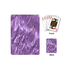 Crumpled Foil Lilac Playing Cards (mini)