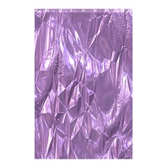 Crumpled Foil Lilac Shower Curtain 48  X 72  (small)