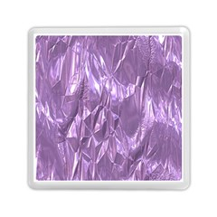 Crumpled Foil Lilac Memory Card Reader (Square)