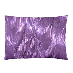 Crumpled Foil Lilac Pillow Cases (two Sides)