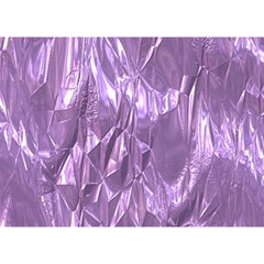 Crumpled Foil Lilac Birthday Cake 3D Greeting Card (7x5)