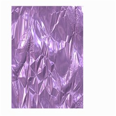 Crumpled Foil Lilac Large Garden Flag (Two Sides)