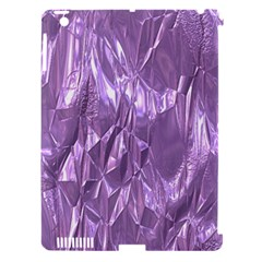 Crumpled Foil Lilac Apple iPad 3/4 Hardshell Case (Compatible with Smart Cover)