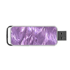 Crumpled Foil Lilac Portable Usb Flash (one Side)