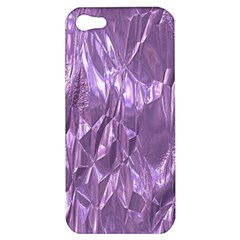 Crumpled Foil Lilac Apple iPhone 5 Hardshell Case