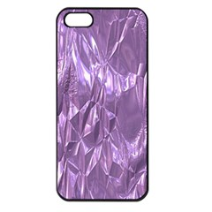 Crumpled Foil Lilac Apple iPhone 5 Seamless Case (Black)