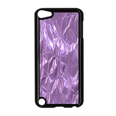 Crumpled Foil Lilac Apple iPod Touch 5 Case (Black)