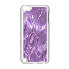 Crumpled Foil Lilac Apple iPod Touch 5 Case (White)