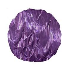 Crumpled Foil Lilac Standard 15  Premium Round Cushions
