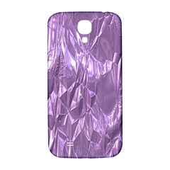 Crumpled Foil Lilac Samsung Galaxy S4 I9500/I9505  Hardshell Back Case