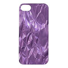 Crumpled Foil Lilac Apple iPhone 5S Hardshell Case