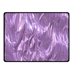 Crumpled Foil Lilac Double Sided Fleece Blanket (Small)