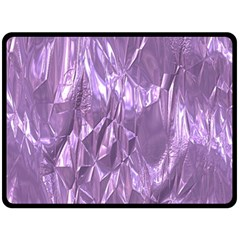 Crumpled Foil Lilac Double Sided Fleece Blanket (Large)
