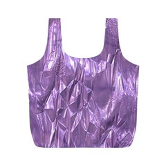 Crumpled Foil Lilac Full Print Recycle Bags (M)