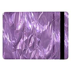 Crumpled Foil Lilac Samsung Galaxy Tab Pro 12.2  Flip Case