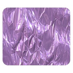 Crumpled Foil Lilac Double Sided Flano Blanket (Small)