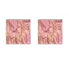Crumpled Foil Pink Cufflinks (Square)
