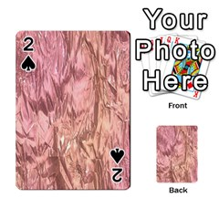 Crumpled Foil Pink Playing Cards 54 Designs