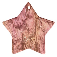Crumpled Foil Pink Star Ornament (Two Sides)