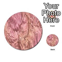 Crumpled Foil Pink Multi-purpose Cards (Round)