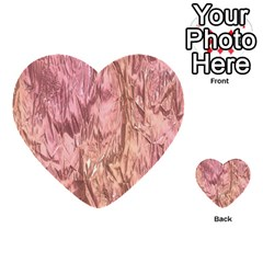 Crumpled Foil Pink Multi-purpose Cards (Heart)