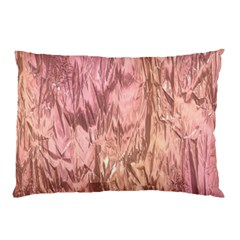 Crumpled Foil Pink Pillow Cases